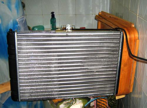 тепловентилятор из автомобильного радиатора Фурнитура для