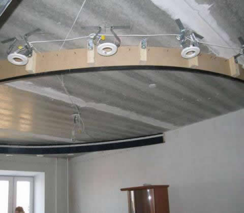 Уровневые потолки с подсветкой как сделать