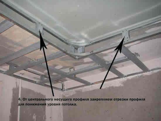 Сделать двухуровневый потолок из гипсокартона своими руками